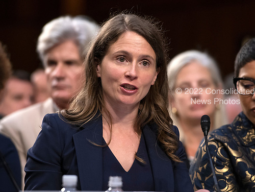 Colleen E. Roh Sinzdak, former Student and current Senior Associate Hogan Lovells LLP, testifies in favor of the nomination of Judge Brett Kavanaugh before the US Senate Judiciary Committee on his nomination as Associate Justice of the US Supreme Court to replace the retiring Justice Anthony Kennedy on Capitol Hill in Washington, DC on Friday, September 7, 2018.<br /> Credit: Ron Sachs / CNP