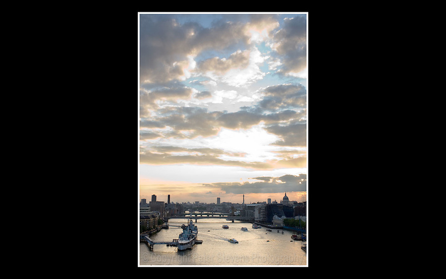 Sunset over the River Thames, London - 14th June 2005