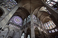 The Basilica of Saint Denis, choir and transept, 12th - 13th centuries, Saint Denis, Seine Saint Denis, France. Picture by Manuel Cohen