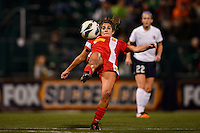 Western New York Flash midfielder Angela Salem (6). The Western New York Flash defeated Sky Blue FC 2-0 during a National Women's Soccer League (NWSL) semifinal match at Sahlen's Stadium in Rochester, NY, on August 24, 2013.