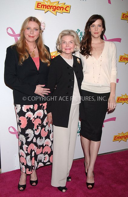 WWW.ACEPIXS.COM . . . . . ....October 8 2007, New York City....Actress Liv Tyler, her grandmother Dorothea Johnson (C)  and her mother Bebe Buell attends the launch of Emergen-C Pink at Whole Foods Market ....Please byline: KRISTIN CALLAHAN - ACEPIXS.COM.. . . . . . ..Ace Pictures, Inc:  ..(646) 769 0430..e-mail: info@acepixs.com..web: http://www.acepixs.com