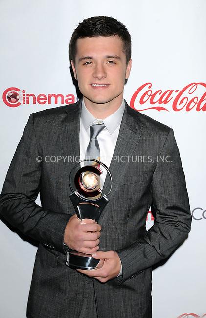 WWW.ACEPIXS.COM . . . . .  ..... . . . . US SALES ONLY . . . . .....April 26 2012, Las Vegas....Josh Hutcherson at the CinemaCon Awards held at Caesars Palace Hotel on April 26 2012 in Las Vegas....Please byline: FAMOUS-ACE PICTURES... . . . .  ....Ace Pictures, Inc:  ..Tel: (212) 243-8787..e-mail: info@acepixs.com..web: http://www.acepixs.com