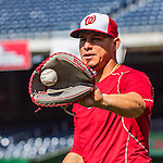 28 May 2016: Washington Nationals catcher Wilson Ramos warms up prior to facing the St. Louis Cardinals at Nationals Park in Washington, DC. The Cardinals defeated the Nationals 9-4 to take a 2-games to 1 lead in their 4-game series. Mandatory Credit: Ed Wolfstein Photo *** RAW (NEF) Image File Available ***