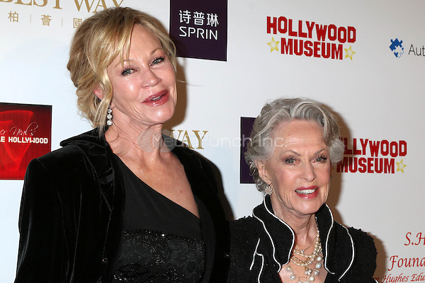 HOLLYWOOD, CA - FEBRUARY 26: Melanie Griffith, Tippi Hedren at the Style Hollywood Oscar Viewing Party at the Hollywood Museum in Hollywood, California on February 26, 2017. Credit: David Edwards/MediaPunch