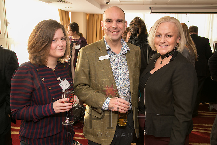 From left are Louise Atkins of Atkins Residential, Andy Churchill of Earl & Pelham and Heather Stanford of Stanford Gould