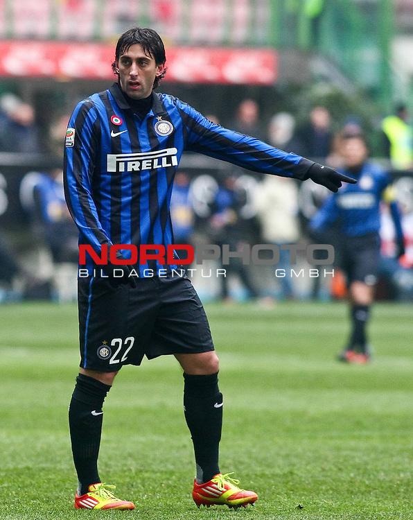 inter-novara - milano 12 febbraio 2012 - serie A - nella foto: milito diego<br /> Foto &copy; nph /  sportmedia<br /> ***** Attention only for GER, CRO, SUI *****