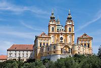 Austria, Lower Austria, UNESCO World Heritage Wachau, Melk, Benedictine monastery since 1089, founded by Margrave Leopold II