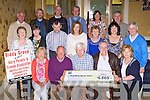 Kerry Parents and Friends Biddy group who presented a cheque of €6869 to Kerry Parents and Friends in the Holiday Inn Killarney on Friday night front row l-r: Noreen Casey, Paul Cremin, Pat Moriarty, John Coffey, Kathleen  Moriarty. Middle row: Mary Kissane, Nuala O'Doherty, Tom Brosnan, Julie Talbot, Nora Moriarty, Eileen Scully, Tim Moriarty. Back row: Tim Kissane, Donie Doherty, Paudie Kissane, Phil Hannafin, Sarah Griffin and Noel Lacey