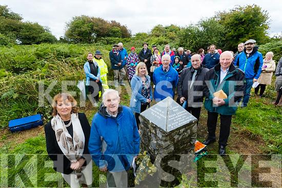 Mairead Ni Muircheartaigh, Sean Seamus Ó Conchuir, Aoife Ní Chonchúir, Brian Caball and Padraig Mac Fhearghusa and Donncha Ó hAodha at Tionól Mhic Easmainn, McKenna's Fort, Ardfert on Sunday