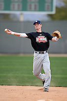 January 16, 2010:  David Ulrich (Candor, NY) of the Baseball Factory Northeast Team during the 2010 Under Armour Pre-Season All-America Tournament at Kino Sports Complex in Tucson, AZ.  Photo By Mike Janes/Four Seam Images