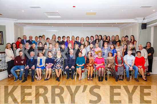 Retirement Party: Nurse Joan O'Donnell, Listowel, seated centre pictured at her retirement party after 35 years at Kerry University Hospital with family & colleagues at the Listowel Arms Hotel on Friday night
