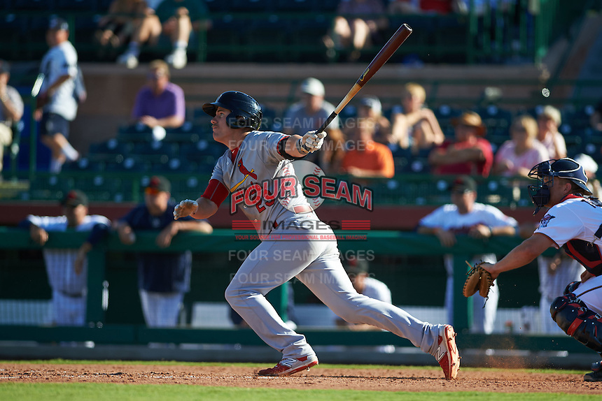 Surprise Saguaros third baseman Patrick Wisdom (23) at bat during an Arizona Fall League game against the Scottsdale Scorpions on October 22, 2015 at Scottsdale Stadium in Scottsdale, Arizona.  Surprise defeated Scottsdale 7-6.  (Mike Janes/Four Seam Images)