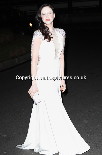 NON EXCLUSIVE PICTURE: MATRIXPICTURES.CO.UK.PLEASE CREDIT ALL USES..WORLD RIGHTS..Picture shows British actress Andrea Riseborough attending the London Evening Standard British Film Awards at the Marriott Hotel County Hall, London...FEBRUARY 4th 2013..REF: GBH 13740