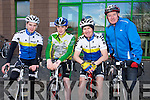 Kieran Mawe, Ciaran Murphy, Michael O'Callaghan, Kieran Rutledge at the IT Tralee Student and Staff Fun Triathlon at the South Campus on Monday