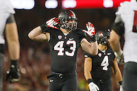 Stanford-October 10, 2014: Blake Lueders during the Stanford vs. Washington State game Friday night at Stanford Stadium.<br /> <br /> The Cardinal defeated the Cougars 34-17.