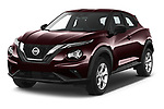 2020 Nissan Juke 5 Door SUV Angular Front automotive stock photos of front three quarter view