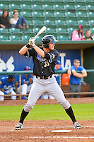 Dane McFarland (35) of the Missoula Osprey at bat against the Ogden Raptors in Pioneer League action at Lindquist Field on August 5, 2014 in Ogden, Utah.  (Stephen Smith/Four Seam Images)