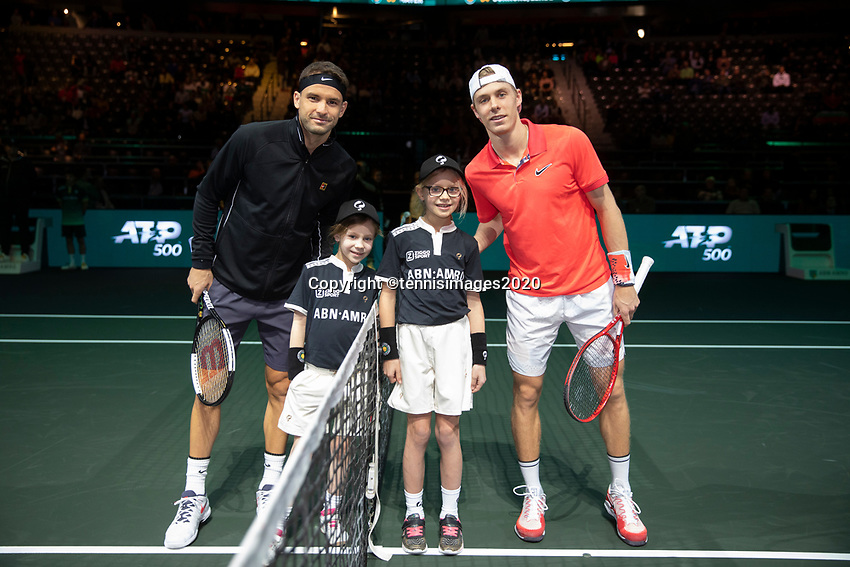 Rotterdam, The Netherlands, 10 Februari 2020, ABNAMRO World Tennis Tournament, Ahoy, Denis Shapovalov (CAN), Grigor Dimitrov (BUL).<br /> Photo: www.tennisimages.com