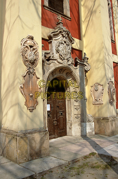 Belgrade Cathedral, entrance doorway, Szentendre, Hungary
