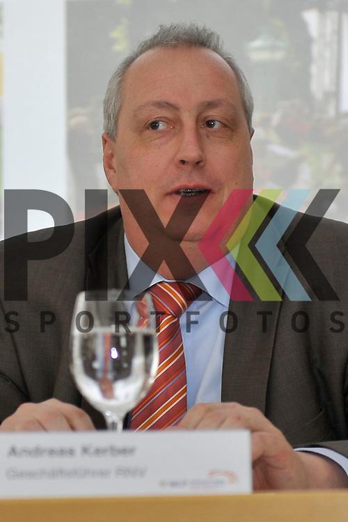 Andreas Kerber (GF RNV) bei der Pressekonferenz fuer den MLP Marathon 2013.<br /> <br /> Foto &copy; Rhein-Neckar-Picture *** Foto ist honorarpflichtig! *** Auf Anfrage in hoeherer Qualitaet/Aufloesung. Belegexemplar erbeten.