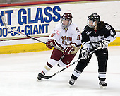Allie Thunstrom (Boston College - 9), Christie Jensen (Providence - 4) - The Providence College Friars and Boston College Eagles tied at 1 on BC's senior night on Saturday, February 21, 2009, at Conte Forum in Chestnut Hill, Massachusetts.