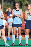 09 October 2015: North Carolina's Malin Evert (GER). The University of North Carolina Tar Heels hosted the Longwood University Lancers at Francis E. Henry Stadium in Chapel Hill, North Carolina in a 2015 NCAA Division I Field Hockey match. UNC won the game 8-1.