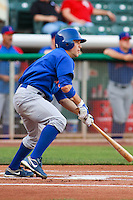 May 18, 2009:  Sam Fuld of the Iowa Cubs, Pacific Cost League Triple A affiliate of the Chicago Cubs, during a game at the Spring Mobile Ballpark in Salt Lake City, UT.  Photo by:  Matthew Sauk/Four Seam Images