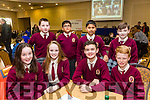 Pictured at the Tralee Credit Union Schools Quiz Brandon hotel on Sunday were Adam Mulvihill, Thomas McGuire, Cliondhna O'Connor McCarthy, James Moran, Ben O'Sullivan, Fahad Azim and Rakib Chowdhury from Mercy Moyderwell Primary