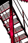 red fire escape