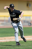 March 13, 2010:  Third Baseman Steve may of Army vs. Long Island University Blackbirds in a game at Henley Field in Lakeland, FL.  Photo By Mike Janes/Four Seam Images