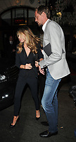 Abbey Clancy and Peter Crouch at the Bradley Theodore: Second Coming VIP preview, Maddox Gallery Mayfair, Maddox Street, London, England, UK, on Wednesday 19 April 2017.<br /> CAP/CAN<br /> &copy;CAN/Capital Pictures