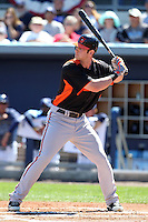 Baltimore Orioles first baseman Joe Mahoney #51 during a spring training game against the Tampa Bay Rays at the Charlotte County Sports Park on March 5, 2012 in Port Charlotte, Florida.  (Mike Janes/Four Seam Images)