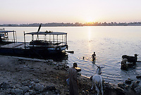 Aegypten El Minya, Fluss Nile / EGYPT El Minya, river Nile