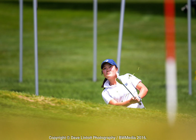 Siyi Keh (Auckland). 2016 Toro Women's Interprovincial Golf Championship at Westown Golf Club in New Plymouth, New Zealand on Friday, 9 December 2016. Photo: Dave Lintott / lintottphoto.co.nz