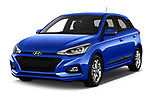 2019 Hyundai i20 Twist 5 Door Hatchback angular front stock photos of front three quarter view