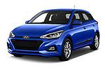 2019 Hyundai i20 Twist 5 Door Hatchback angular front stock photos of front three quarter view