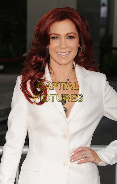 Carrie Preston.'True Blood' Season 5 Los Angeles Premiere at ArcLight Cinemas Cinerama Dome, Hollywood, California, USA..May 30th, 2012.half length white suit hand on hip  .CAP/ROT/TM.© TM/Roth/Capital Pictures