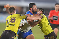 Peta Hiku.<br /> NRL Premiership Rugby League. Vodafone Warriors v Brisbane Broncos. Mt Smart Stadium. 14th April 2018. Copyright Photo: Jeremy Ward / www.photosport.nz /SWpix.com