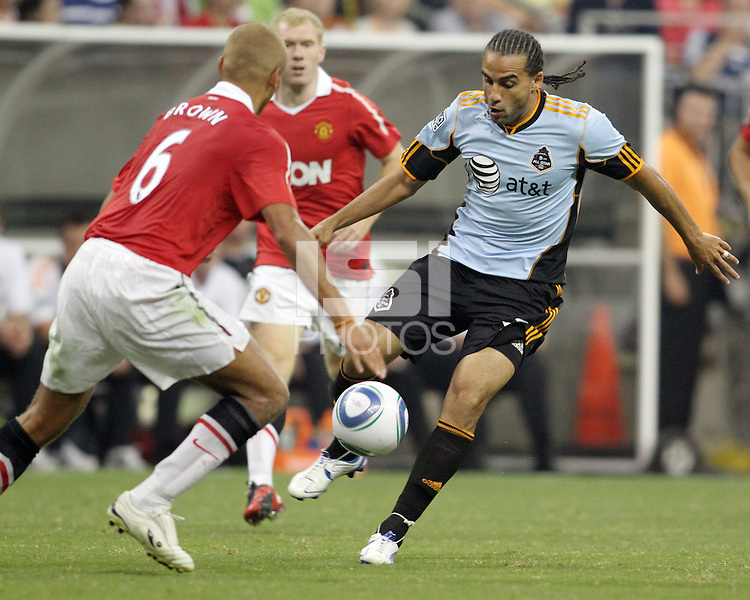 Dwayne De Rosario #17 of the MLS All-Stars during the 2010 MLS All-Star match against Manchester United at Reliant Stadium, on July 28 2010, in Houston, Texas. Manchester United won 5-2.