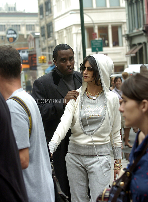 WWW.ACEPIXS.COM ** ** ** ....NEW YORK, JUNE 28, 2005....Penelope Cruz and Sean 'P. Diddy' Combs are seen in SoHo shooting the new Sean John advertisements with the legendary photographer Peter Lindbergh.....Please byline: IAN WINGFIELD - ACE PICTURES.. *** ***  ..Ace Pictures, Inc:  ..Craig Ashby (212) 243-8787..e-mail: picturedesk@acepixs.com..web: http://www.acepixs.com