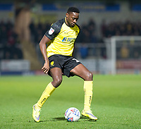 3rd December 2019; Pirelli Stadium, Burton Upon Trent, Staffordshire, England; English League One Football, Burton Albion versus Southend United; Lucas Akins of Burton Albion with the ball at his feet - Strictly Editorial Use Only. No use with unauthorized audio, video, data, fixture lists, club/league logos or 'live' services. Online in-match use limited to 120 images, no video emulation. No use in betting, games or single club/league/player publications