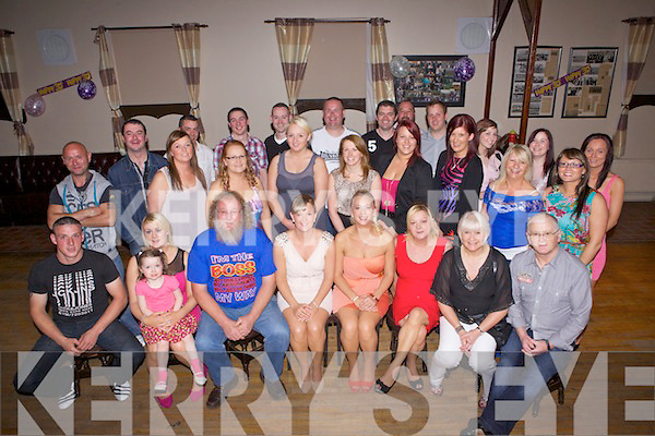 Twin sisters Mag and Joanne Kelliher(centre) from Abbeyfeale celebrating their 30th birthday with many family and friends last Saturday night in The Grove, Abbeyfeale.