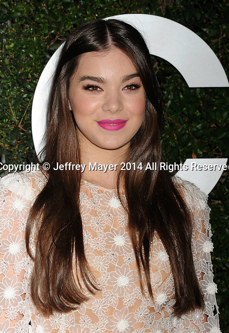 BEVERLY HILLS, CA- OCTOBER 02: Actress Hailee Steinfeld arrives at the Michael Kors Hosts Launch Of Claiborne Swanson Frank's 'Young Hollywood' Portrait Book at a private residence on October 2, 2014 in Beverly Hills, California.