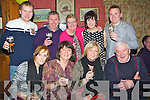 TOOASTING: What a night friends had as they celebrate the New Years (Monday night) in An Tochár Bán, Kilmoyley Front l-r: Emma and kathleen Corridon, Pauline meehan and Joe Maunsell. back l-r: Alan Bonn, Phil Corridon, Margaret Fitzgerald, Tracy Corridon and Keith O'Sullivan.