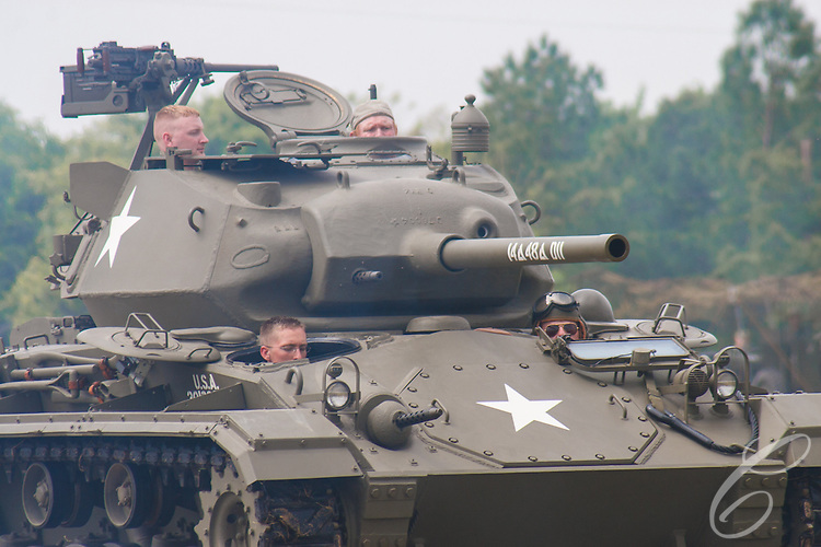 Reenactors showcase World War II tanks, half-tracks and support vehicles during the Museum of the America G.I.'s annual Open House on March 29, 2008 in College Station, Texas.