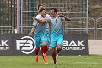 Baris Alici celebrates scoring Turkey's opening goal during Portugal Under-19 vs Turkey Under-21, Tournoi Maurice Revello Football at Stade Parsemain on 3rd June 2018
