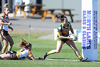 The Wyong Roos play The Entrance Tigers in Round 13 of the Ladies League Tag Central Coast Rugby League Division at Morry Breen Oval on 14th of July, 2019 in Kanwal, NSW Australia. (Photo by Paul Barkley/LookPro)