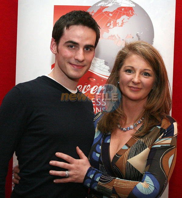 Colin O' Donoghue and Karen Healy at the Daffodil Day Fashion Show in the Westcourt Hotel...Photo NEWSFILE/Jenny Matthews.(Photo credit should read Jenny Matthews/NEWSFILE)....This Picture has been sent you under the condtions enclosed by:.Newsfile Ltd..The Studio,.Millmount Abbey,.Drogheda,.Co Meath..Ireland..Tel: +353(0)41-9871240.Fax: +353(0)41-9871260.GSM: +353(0)86-2500958.email: pictures@newsfile.ie.www.newsfile.ie.FTP: 193.120.102.198.