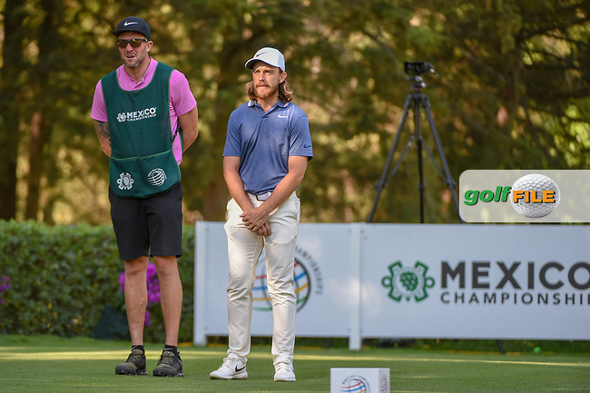 Tommy Fleetwood (ENG) looks over his tee shot on 8 during round 1 of the World Golf Championships, Mexico, Club De Golf Chapultepec, Mexico City, Mexico. 2/21/2019.<br /> Picture: Golffile | Ken Murray<br /> <br /> <br /> All photo usage must carry mandatory copyright credit (© Golffile | Ken Murray)