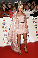 Gabby Allen<br /> arriving for the National TV Awards 2020 at the O2 Arena, London.<br /> <br /> ©Ash Knotek  D3550 28/01/2020